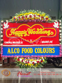 toko karangan bunga, bunga papan pernikahan, toko bunga dekat mangga dua, bunga papan