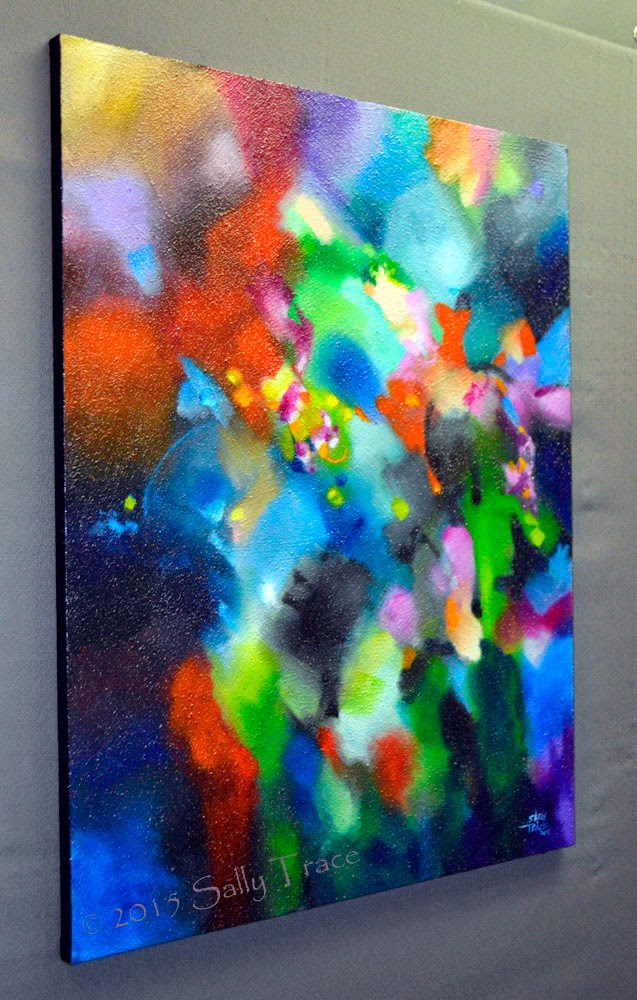 Full Range, original abstract painting by Sally Trace