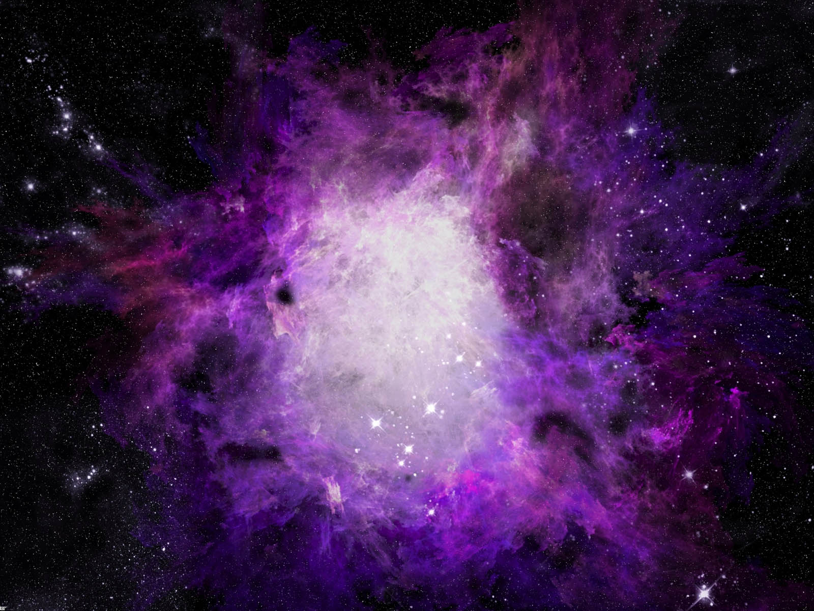 Space Wallpaper Purple
