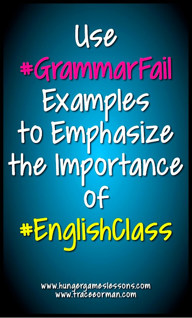Use #GrammarFail examples to emphasize the importance of #English class