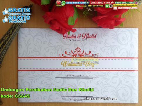 Undangan Pernikahan Nadia Dan Kholid