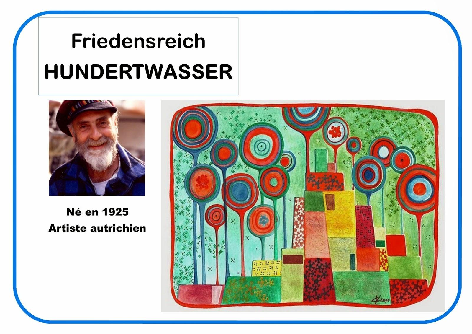 Portrait d'artiste Hunsertwasser