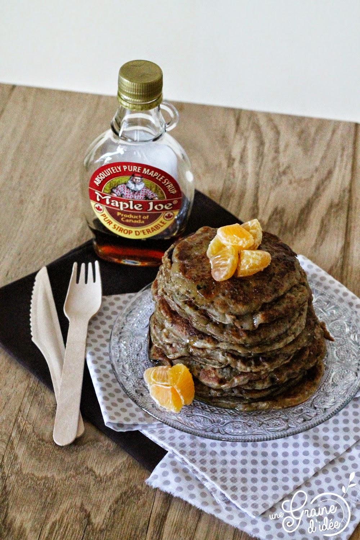 Pancakes à la Banane (Sans oeufs, Sans gluten) - Une Graine d'Idée