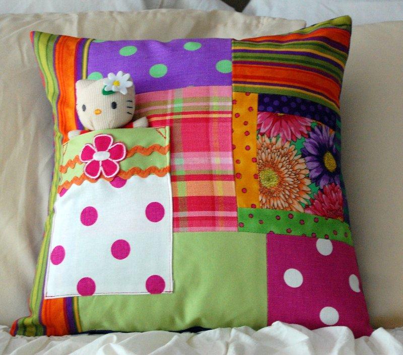 Декоративные подушки в стиле пэчворк 93