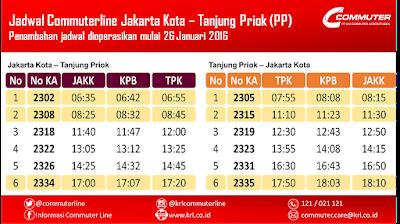 Jadwal Tambahan KRL Jakarta Kota  -Tanjung Priok per 26 Januari 2016