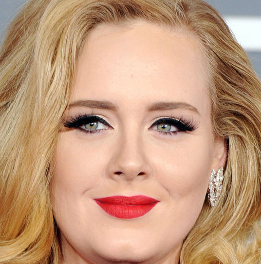 Photo of Adele and her 2017 dramatic make up style, products & tips