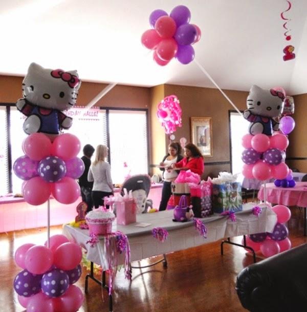 Balon dekorasi ulang tahun tema hello kitty lucu banget untuk anak