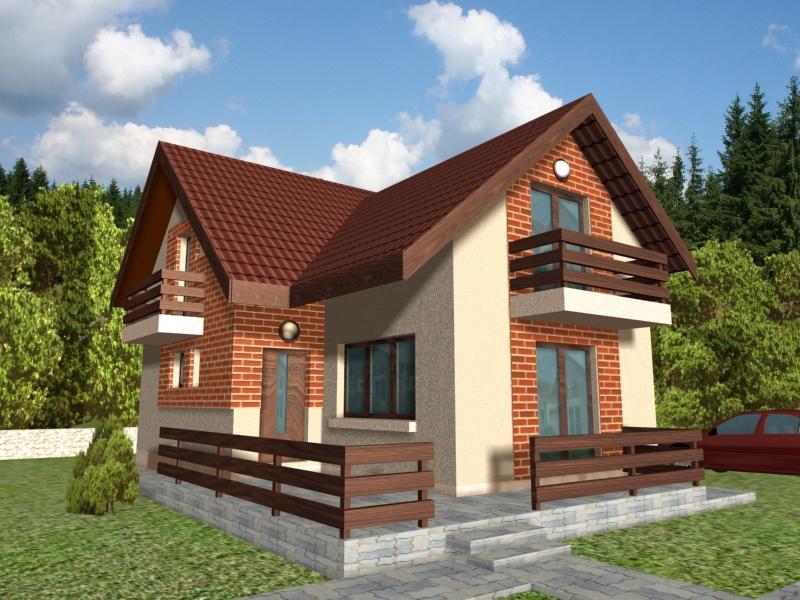 """Categoria proiecte case mici - casa mica tip """"CLINCENI"""""""