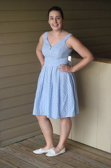 Stitch Fix, review, August, Style, unboxing, subscription box, Margaret M, Olive and Oak, Market and Spruce, Donna Morgan, summer dress, dress, henley tank