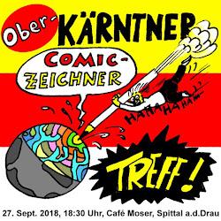 ......Oberkärntner Comiczeichnertreff....., DO, 27.9.2018, 18:30 Uhr, Café Moser, Spittal a.d. Drau