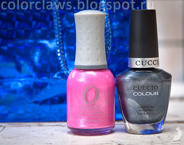 Orly Flirty + Cuccio Nantucket Navy