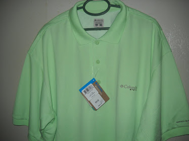 Columbia PFG Polo T-Shirt with Back Vented  NEW RM180