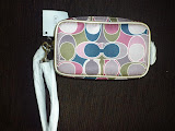 COACH GALLERY SCARF PRINT MULTI POUCH