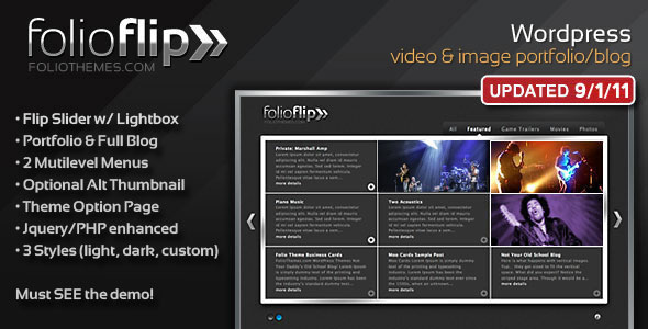FolioFlip Premium Wordpress Theme Free Download by ThemeForest.