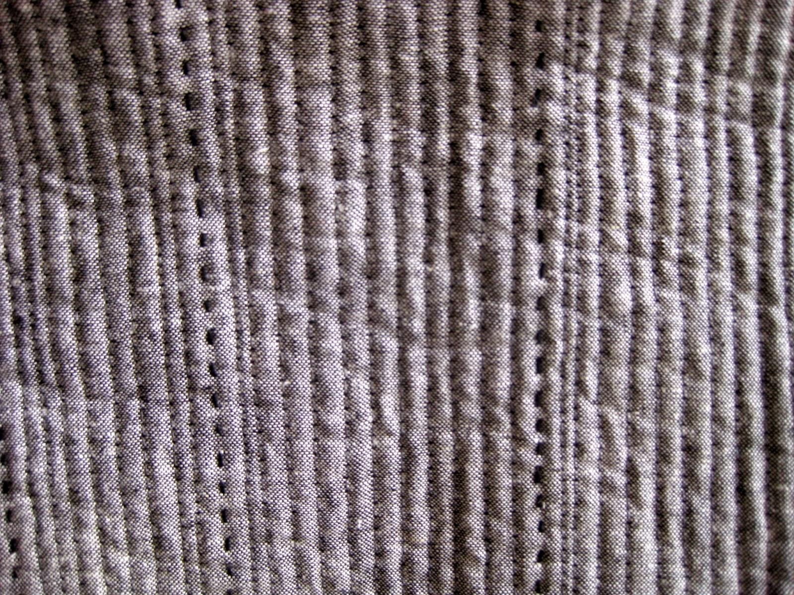 big stitch mixed with machine stitched