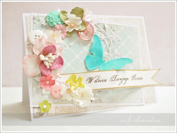 romantyczna kartka - scrapbooking ushii