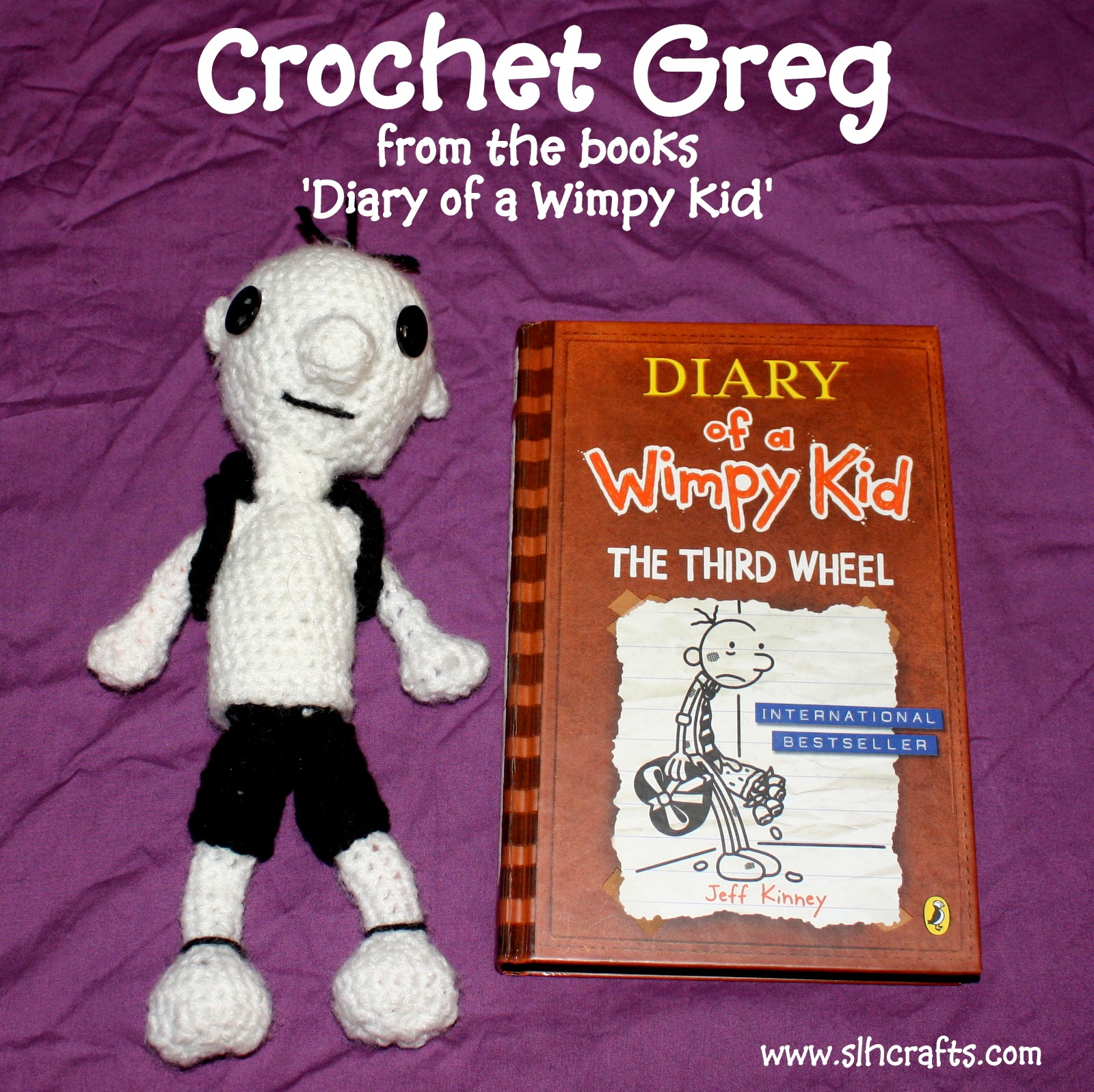slh crafts crochet greg diary of a wimpy kid