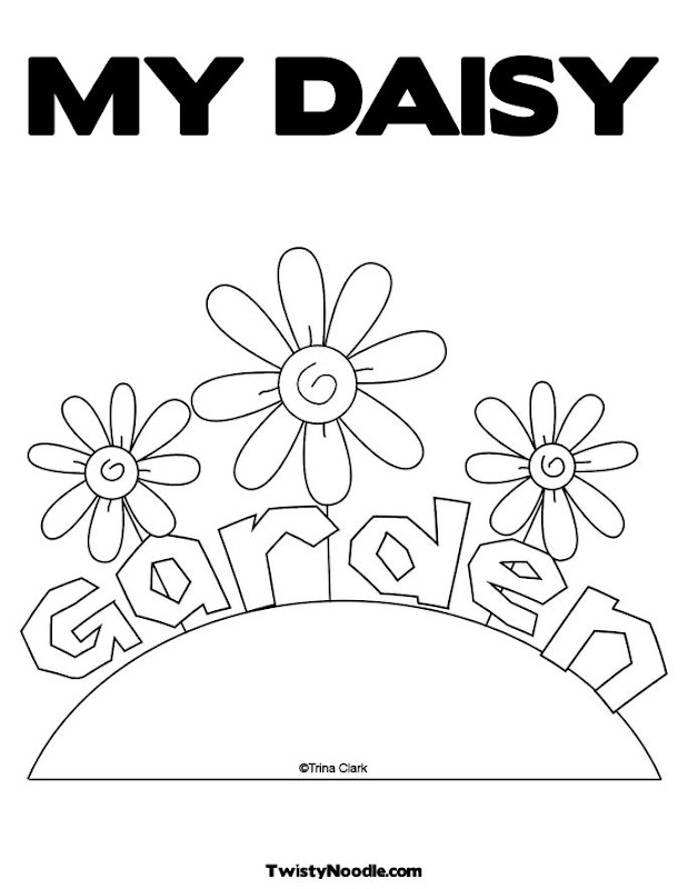 Daisy Flower Garden Coloring Pages title=