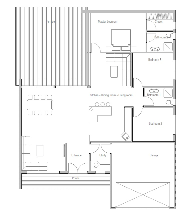 Affordable Home Plans Modern Economical House Plan CH167