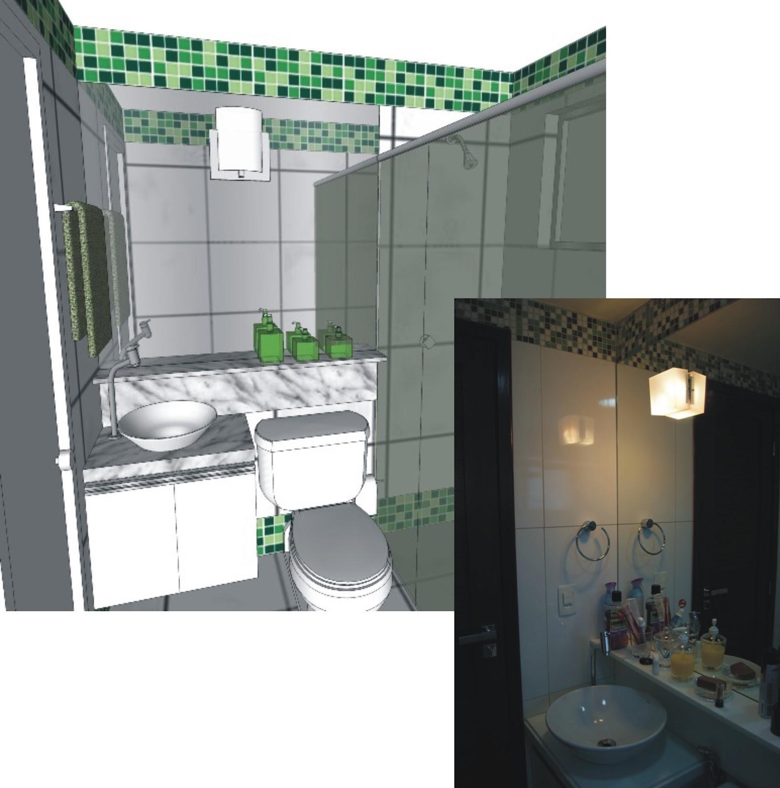 #3D6B4A ANDREA MELO: REFORMA APARTAMENTO COMPACTO (2010) 1584x1600 px projeto banheiro compacto