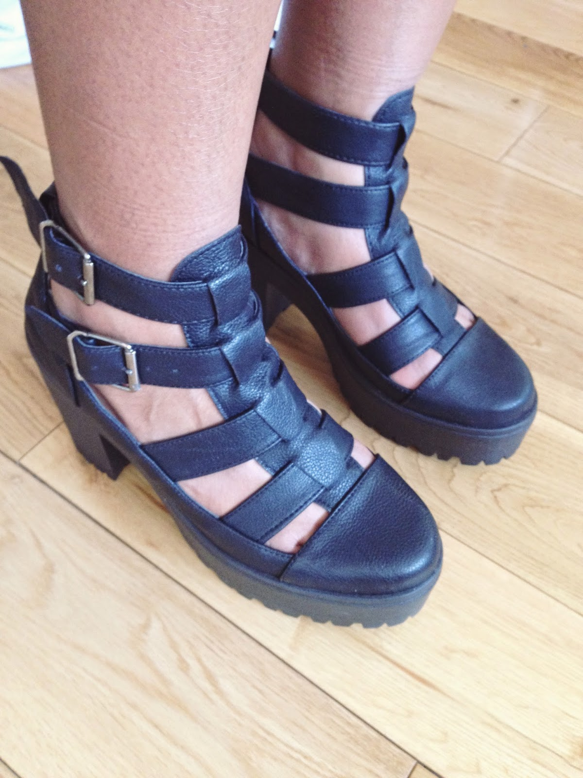 ARCADE CUT OUT CHUNKY BOOTS TOPSHOP
