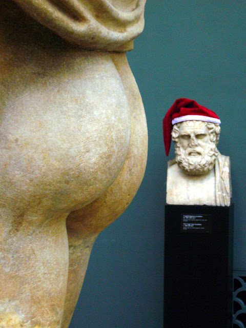 Ny Carlsberg Glyptotek: Euripides med nissehue og udsigt