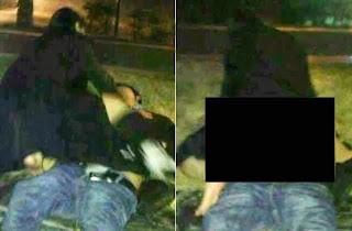 Mulher encontra homem bêbado deitado em calçada e faz s#xo com ele