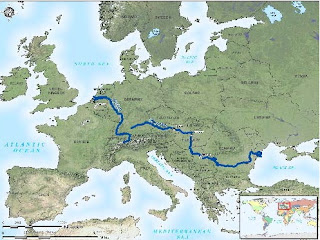 Map of danube and rhine river the rivers helped the