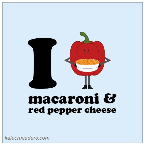 I <3 macaroni & red pepper cheese, I heart macaroni & red pepper cheese, vegan macaroni and cheese, vegan mac and cheese, capsicum