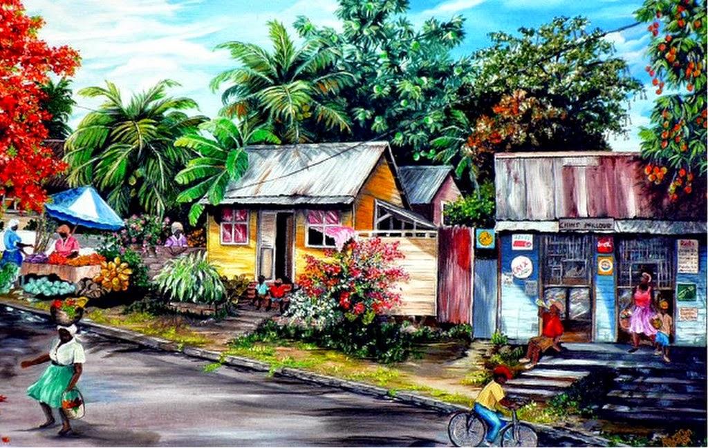 pinturas-decorativas-de-paisajes-caribeños