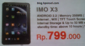 Harga IMO X3 Tablet Android Rp 799.000