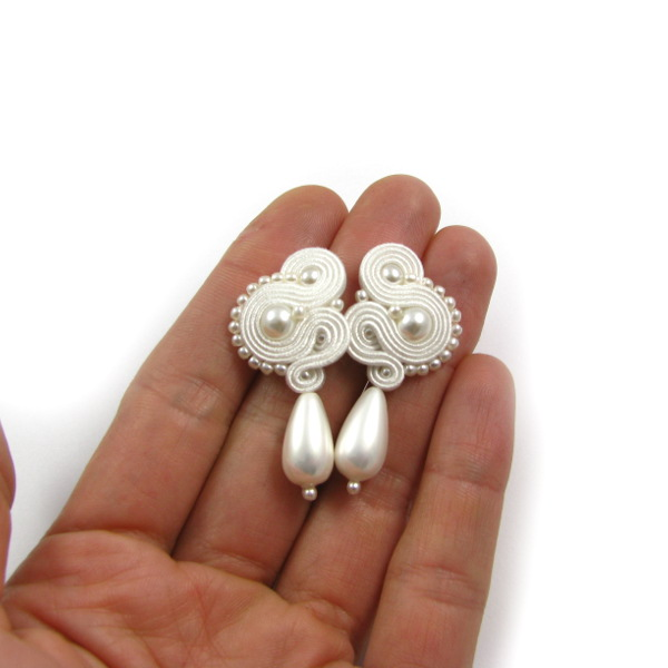Bridal soutache earrings