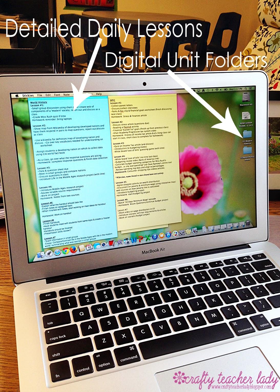 Classroom Organization lesson planning