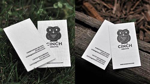 Cartões de visita criativos - Cinch - Agência de Comunicação Visual