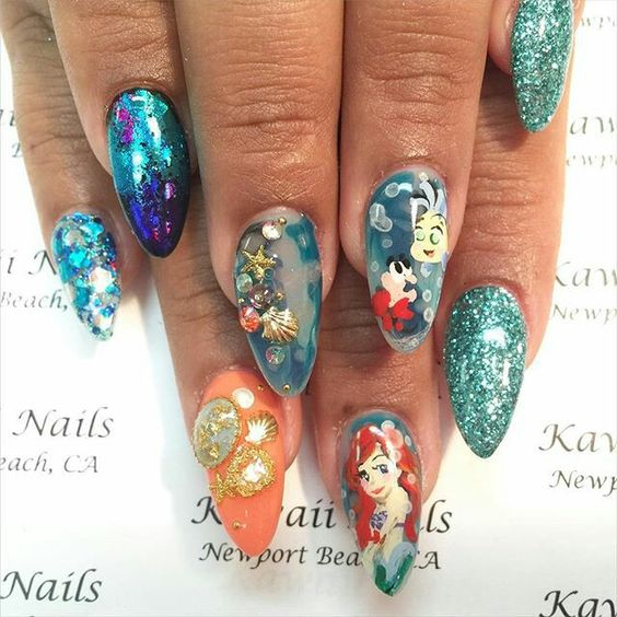 Get Inspired By This Gallery And Learn All The Secrets Of Aquarium Nails With 3 Video Tutorials