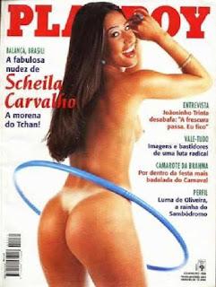 Scheila Carvalho - Total de exemplares vendidos: 845.000 -  Mês da publicação: fev/1998 A eterna morena do Tchan já estampou cinco capas da revista. De acordo com a publicação, em três delas, foi com a mesma pose vista acima.