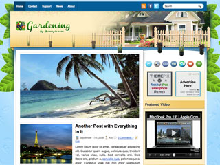 Free Gardening Real Estate WordPress Theme