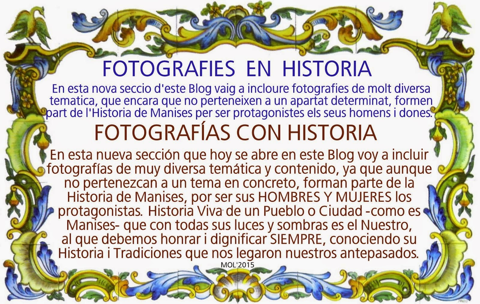 HISTORIA VIVA DE MANISES