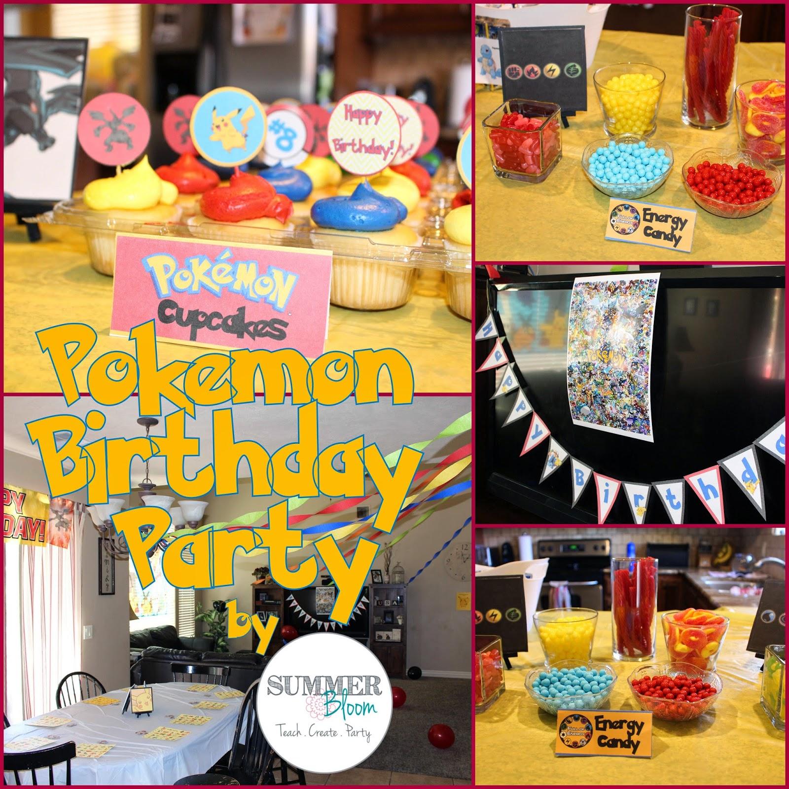 Summer Bloom Teach Create Party Pokemon Birthday Party