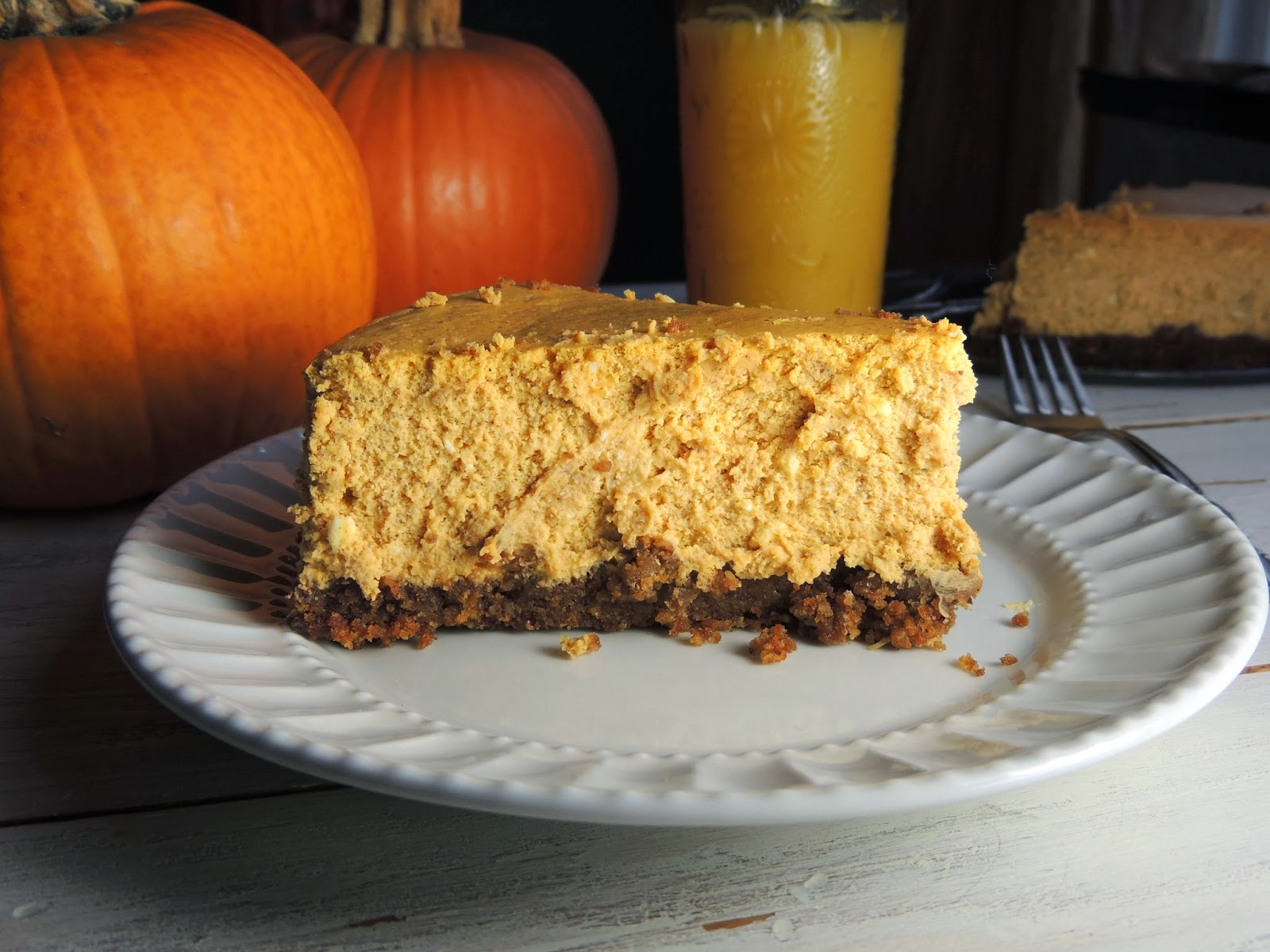 Caramel Pumpkin Pecan Gingersnap Cheesecake Recipe — Dishmaps