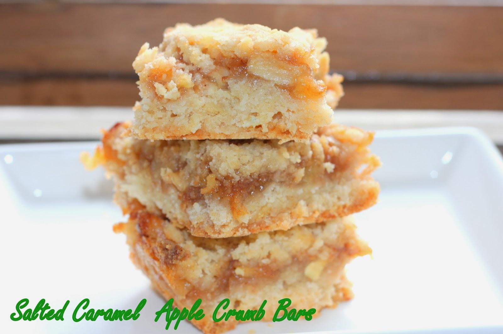 Boston Girl Bakes: Salted Caramel Apple Crumb Bars