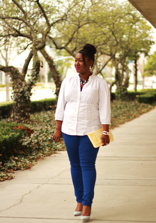 Shapely Chic Sheri - Plus Size Fashion and Style Blog for Curvy Women Something Blue