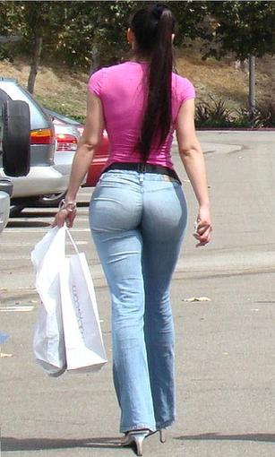 butts in denim shorts and much more