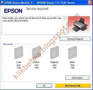 Cara mereset printer epson T13