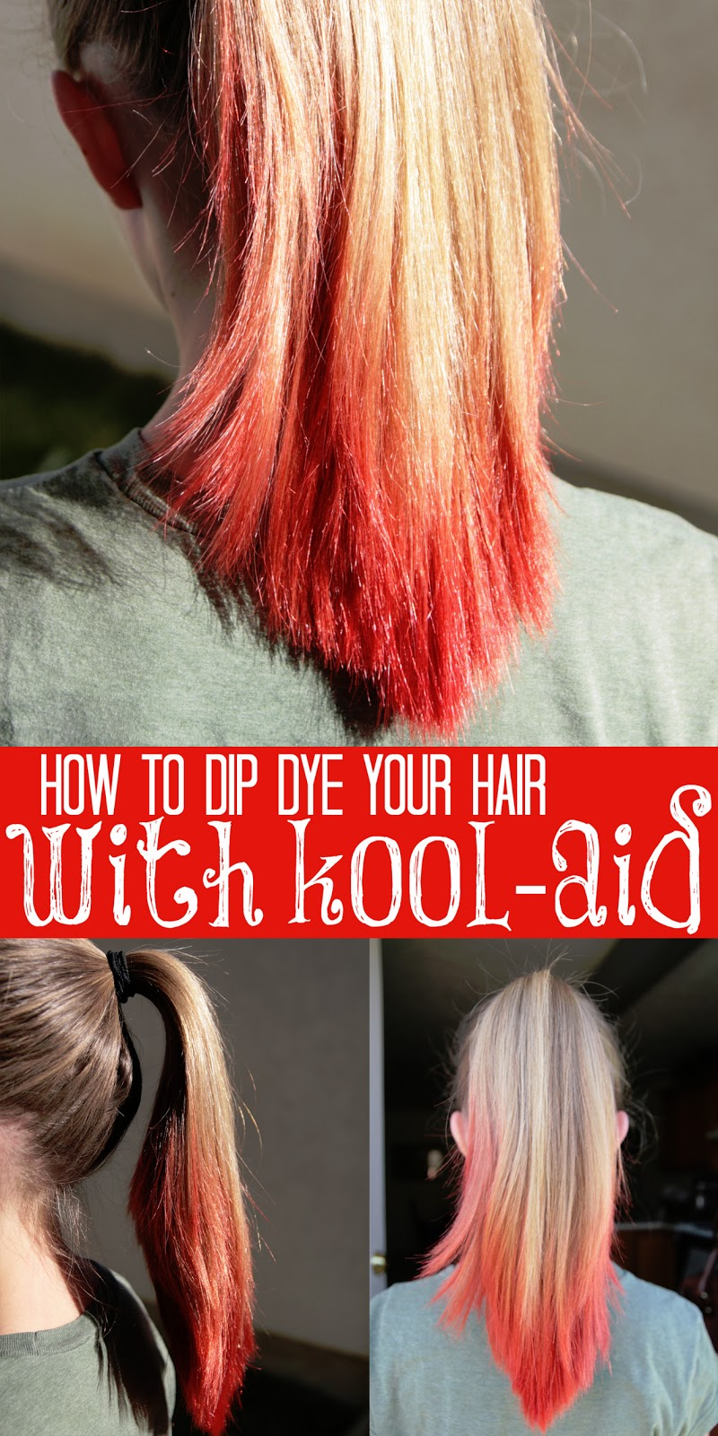 How To Dip Dye Your Hair With Kool Aid Tips From A Typical Mom