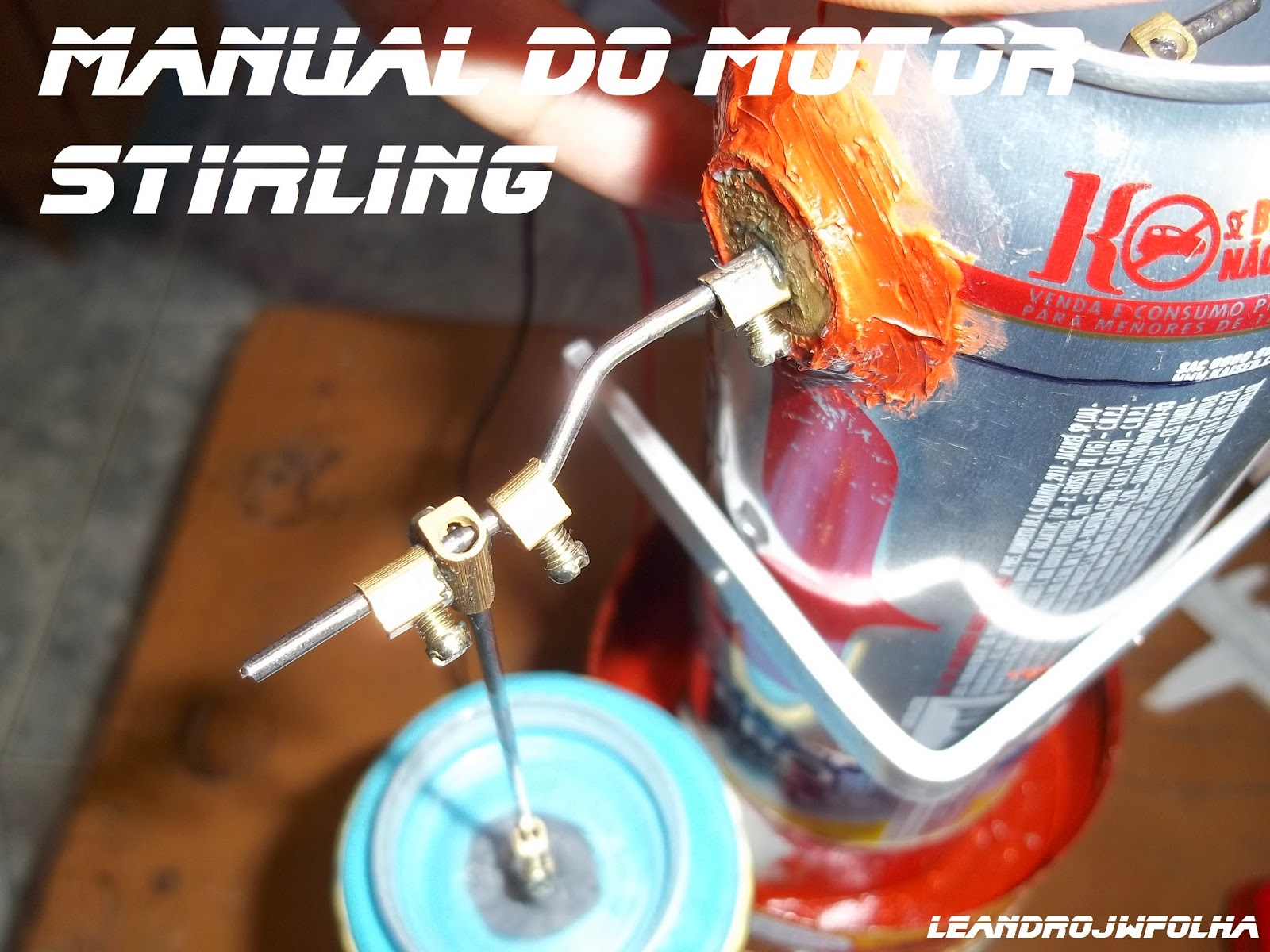 Manual do motor Stirling, 14 mm é o curso total do pistão de trabalho