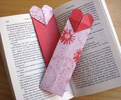 Origami Maniacs Origami Heart Bookmark