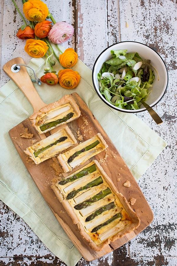 Asparagus tarte with ricotta | seelenschmeichelei.blogspot.com