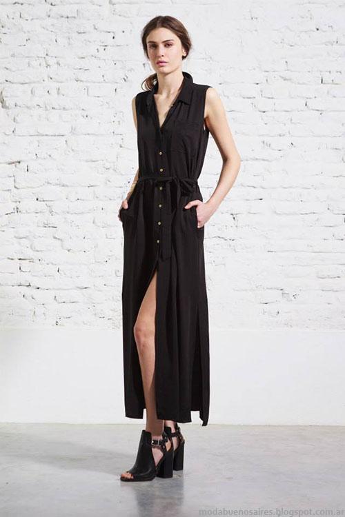 Vestidos largos moda verano 2015 Melocotón.