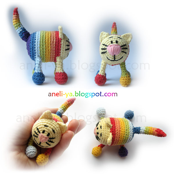 Игрушка-кот, вязание крючком